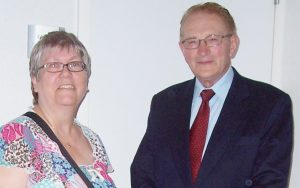 Ontmoeting van Miep Bos met Percy Schmeiser uit Canada