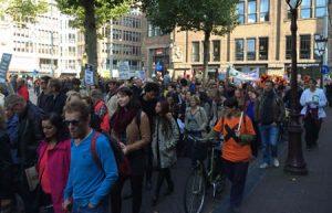 Demonstratie Amsterdam tegen TTIP, 10-10-2015