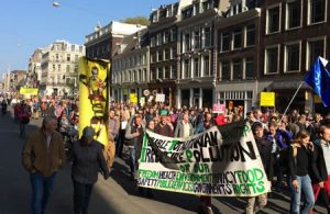 Demonstratie tegen TTIP te Amsterdam, 10-10-2015