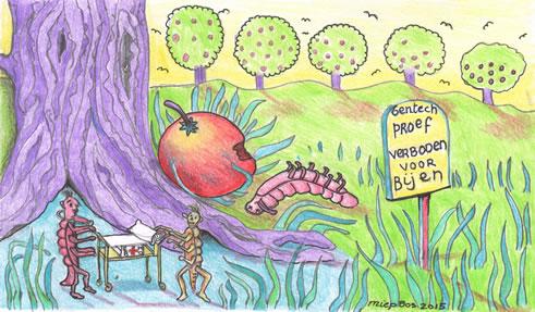 Cartoon Appel (Miep Bos)