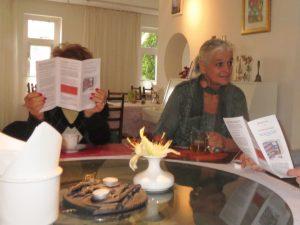 Ekopark folder uitgedeeld in het Vegetarisch Restaurant (foto Miep Bos)