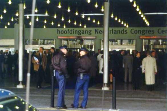 Demonstratie Den Haag, 20-01-2000, Bommelding