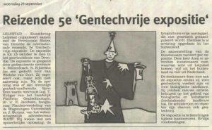 Artikel: Reizende 5e gentechvrije expositie in de Krant van Flevoland, 29-9-2004