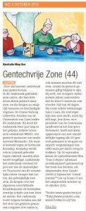 De Gentechvrije Zone van 3 oktober 2012 door Miep Bos