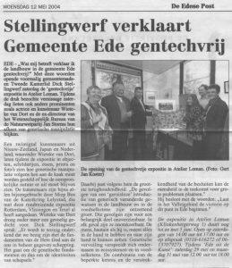 Krantartikel Stellingwerf verklaart gemeente Ede gentechvrij