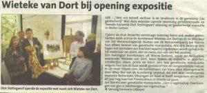 Wieteke van Dort bij opening expositie, Uitkrant Ede