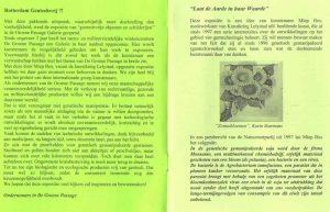 Boekje Gentechvrije Expositei in De Groene Passage (pagina 2-3)
