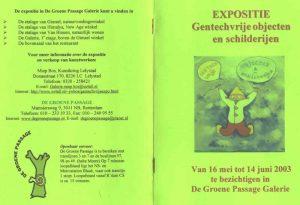 Boekje Gentechvrije expositie in de Groene Passage (voor en achterkant