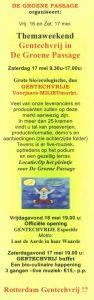 Flyer 2, Themaweekend gentechvrij, voorkant