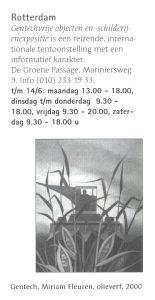 Vermelding gentechvrije expositie Rotterdam in magazine Jonas