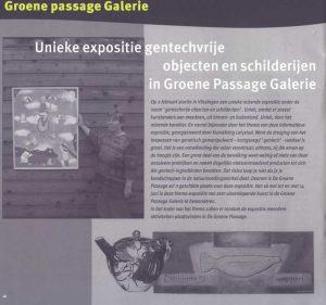 Artikel in Bioscoop (deel 1). Unieke expositie in de Groene Passage Galerie
