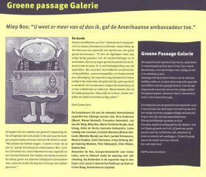 Artikel in Bioscoop (deel 3). Unieke expositie in de Groene Passage Galerie