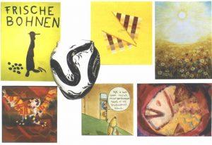 Uitnodigingskaart voor gentechvrije objecten en -schilderijen expositie te Texel (voorkant)