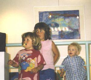 Kinderen bij de opening van de gentechvrije expositie