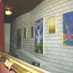 Vlissingen Arsenaal, wand met schilderijen van de gentechvrije expositie