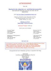 achterkant van uitnodigingskaart voor gentechvrije expositie