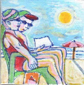 Ouderen met reuma zon.