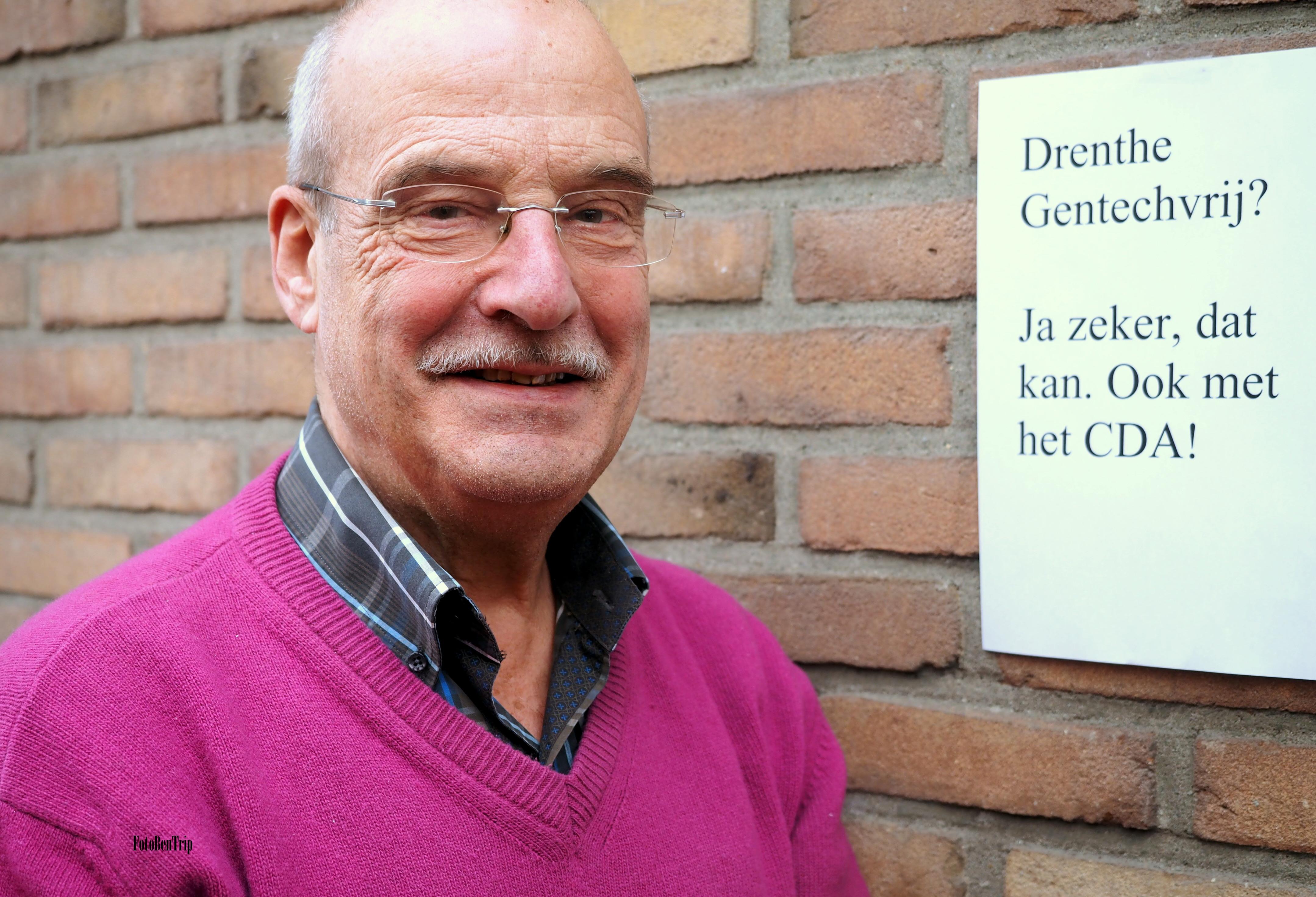 Arie van der Veer voor vitaminevrijheid in Nederland.