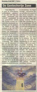 Column De Gentechvrije Zone 1 van Miep Bos in de Flevopost