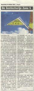 Column De Gentechvrijezone nr 5 van Miep Bos in de Flevopost