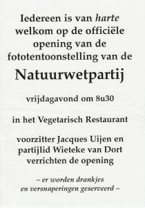Natuurwetpartij Expo Veg. Rest. 1998