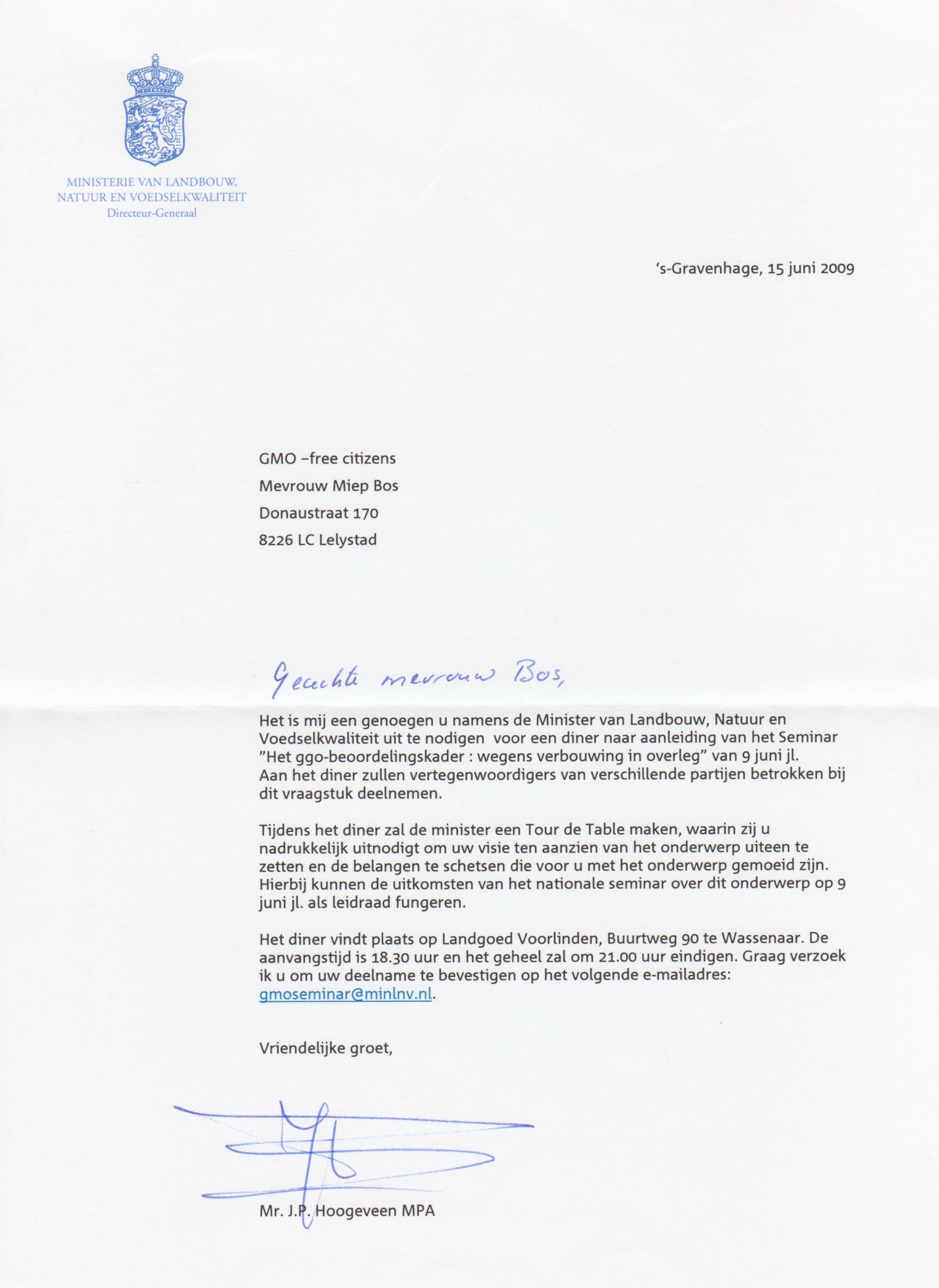 Seminar vervolg uitnodiging Verburg wassenaar
