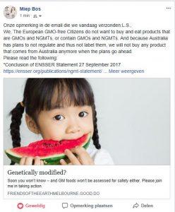 Australië niet labelen nieuwe gentechnieken