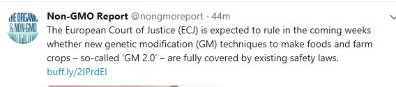 Het Europese Hof van Justitie zou de komende weken beslissen over de nieuwe GM technieken