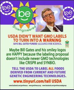 Plan: Labels met lachend zonnetje betekent gentech product in de USA