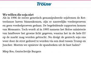 Trouw lezersbrief Miep Bos 30-7-18