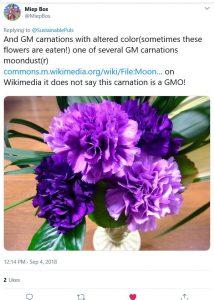 Tweet over GM anjer
