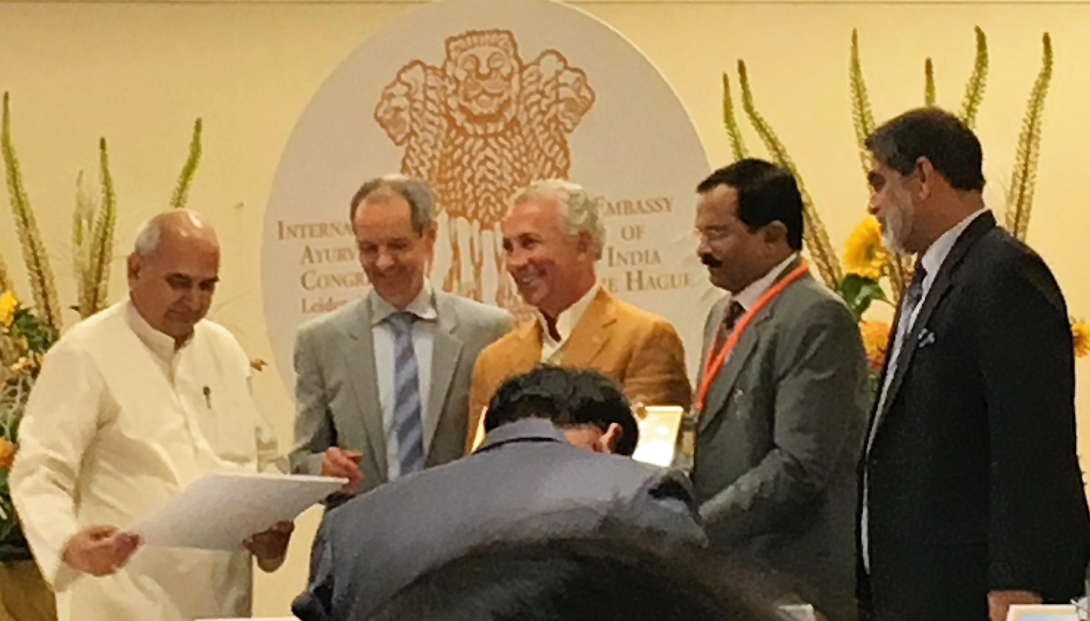 Ayur-Veda-Congres Leiden 2018 prijsuitreiking