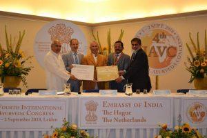 Ayurveda Congress opening oorkonden