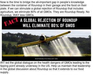 Jeffrey Smith 80 procent of GMO uses glyphosate