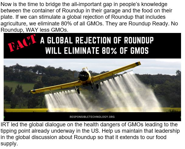 Jeffrey Smith 80 procent of GMO uses glyphosate