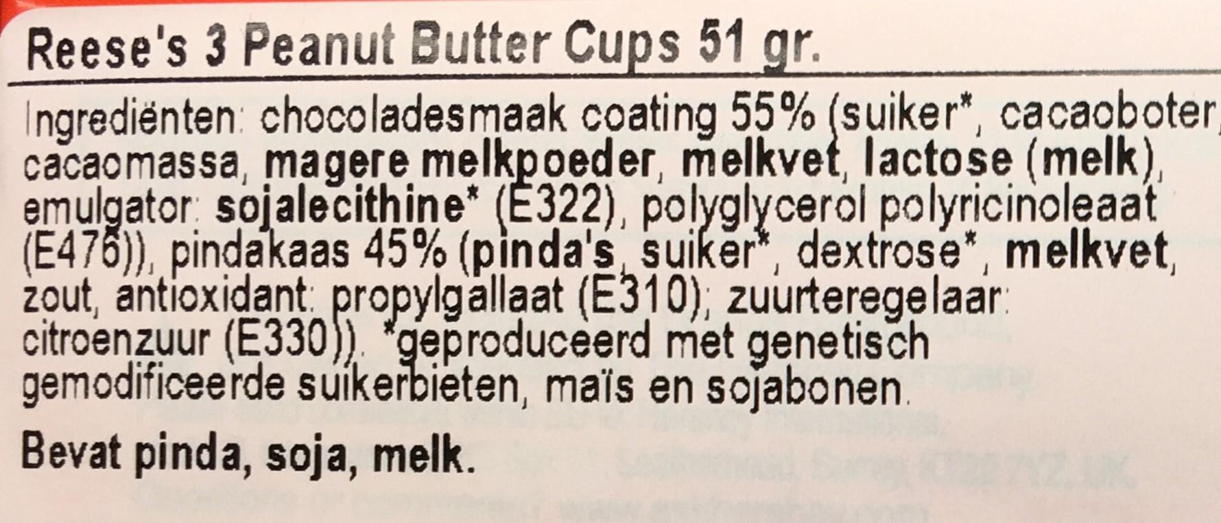 Goed etiket met GMO vermelding
